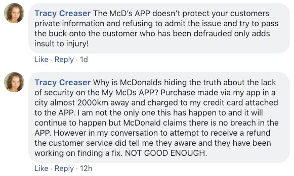Mcdonald s facebook page