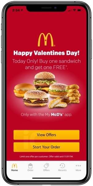 Mcdonald s valentine s day