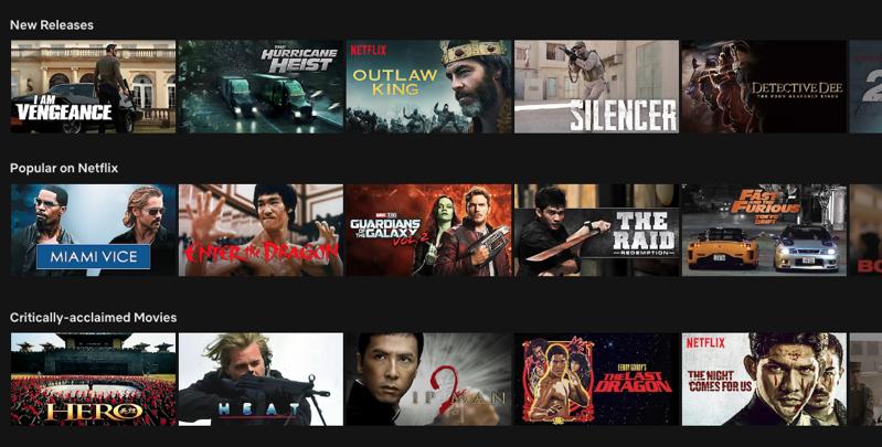 Netflix usa library