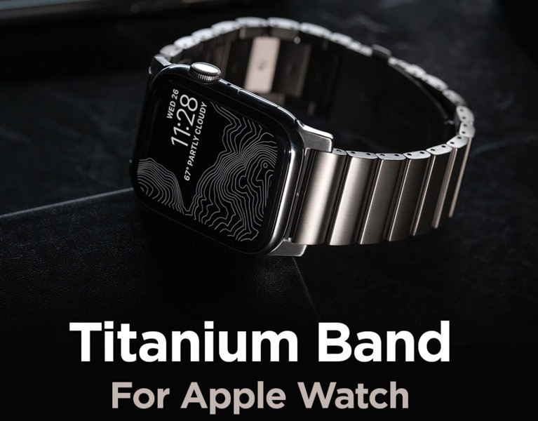 Nomad titanium band apple watch