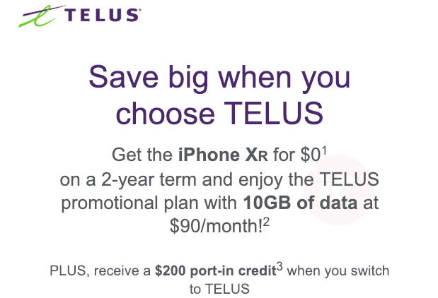 Telus epp iphone xr