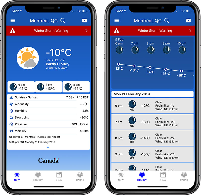 Download Environment Canada's New Weather App on iOS and Android