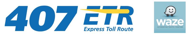 407 ETR waze logo