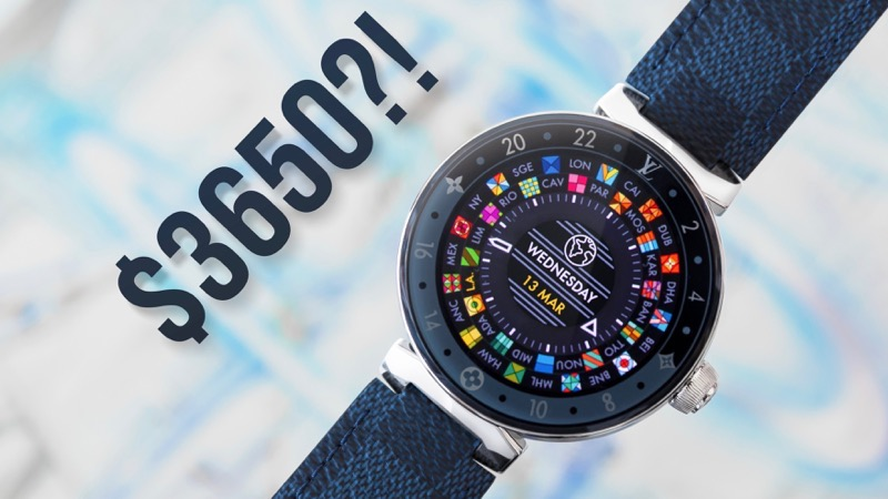 Louis Vuitton's $3,650 CAD Android Smartwatch Gets Hands-On Treatment