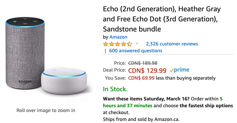 Amazon echo echo dot bundle