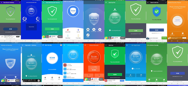 Antivirus apps collage