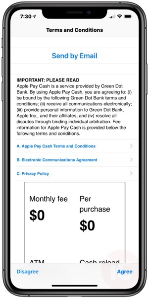 Apple pay cash canada terms