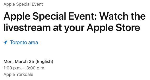 Apple special event yorkdale