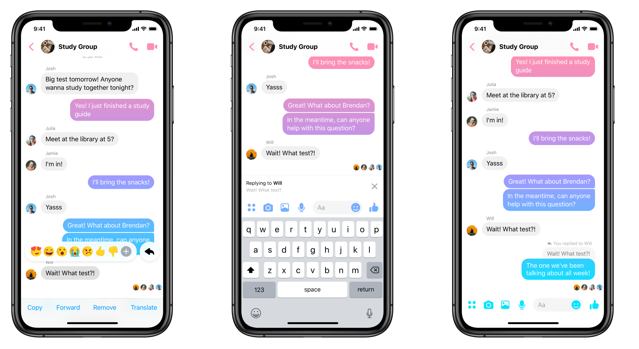Facebook adding quoted replies to Messenger chats; Just like WhatsApp