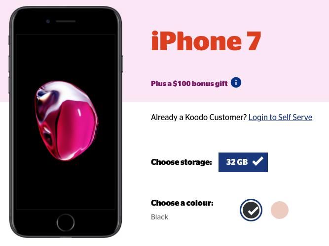 Koodo iphone 7