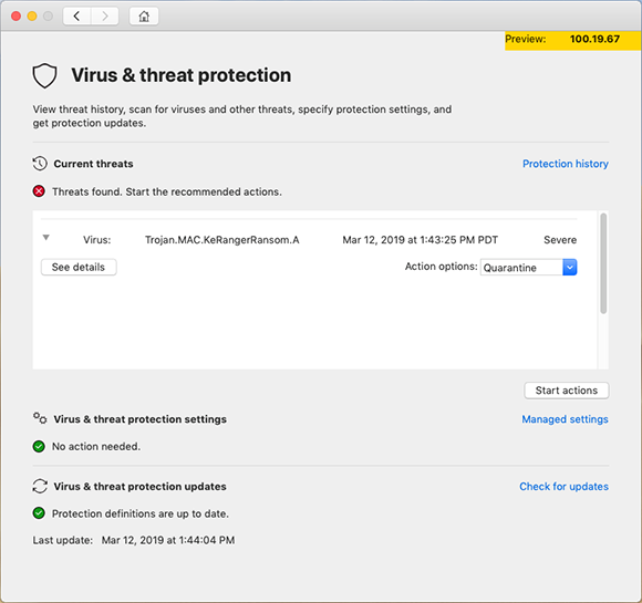 Microsoft defender atp for mac 4 take action