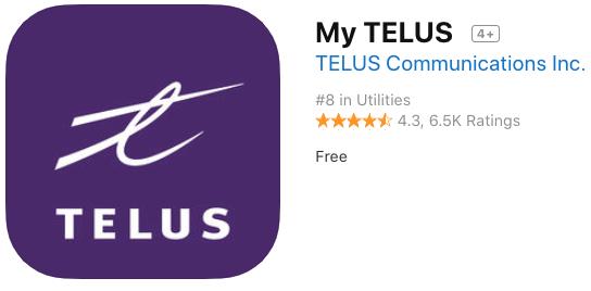 My telus iOS app