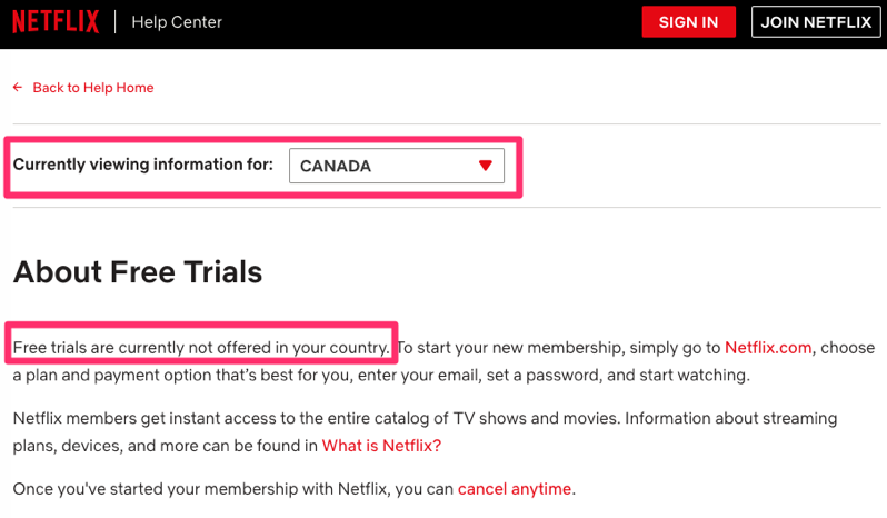 Netflix Free Month Trials Currently No Longer Available in