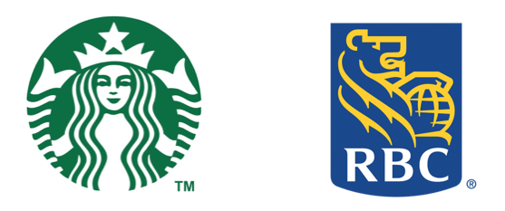 Starbucks rbc logos