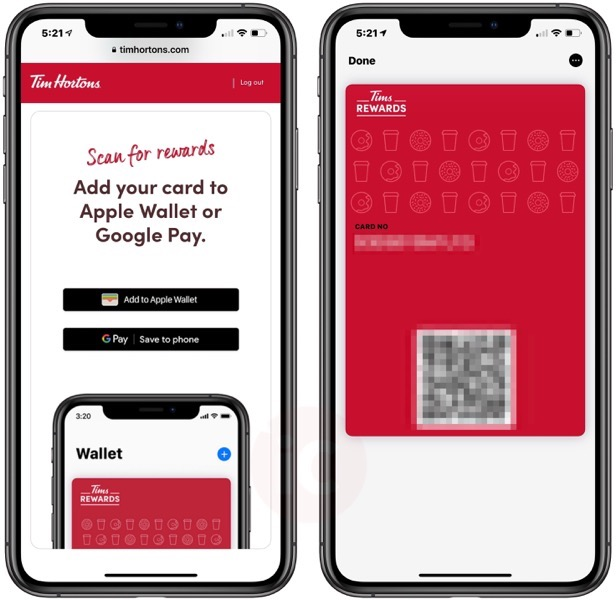 Tim rewards card apple wallet
