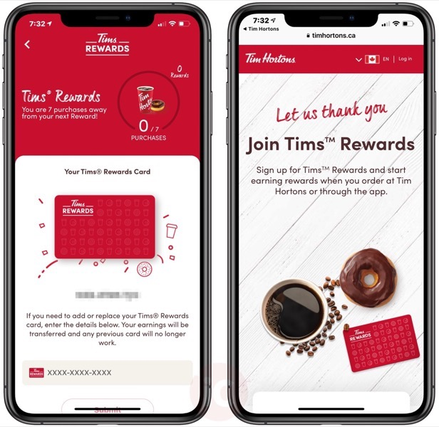 Tims rewards ios