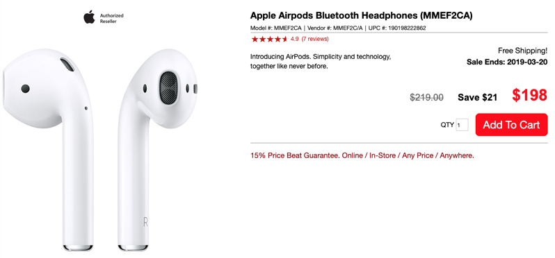 Visions airpods sale