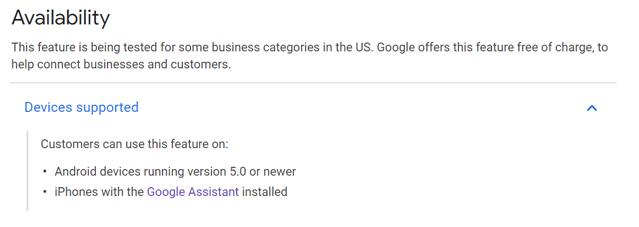Google Duplex device compatility US