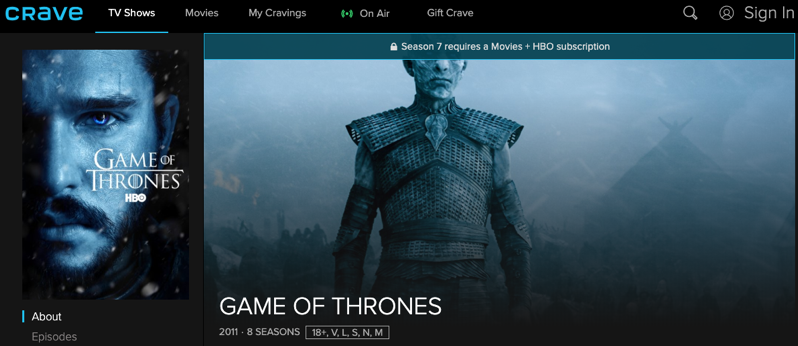 How to Watch and Stream Game of Thrones Season 8 Online in Canada