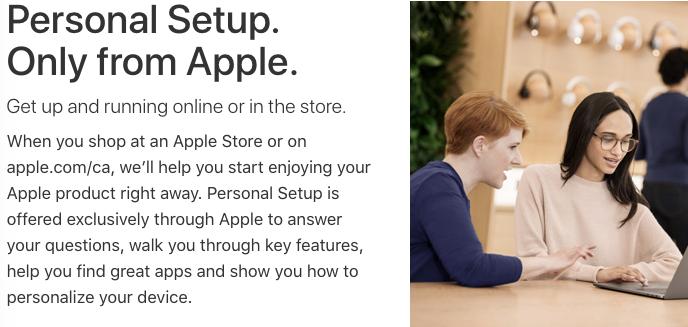 Apple personal setup mac