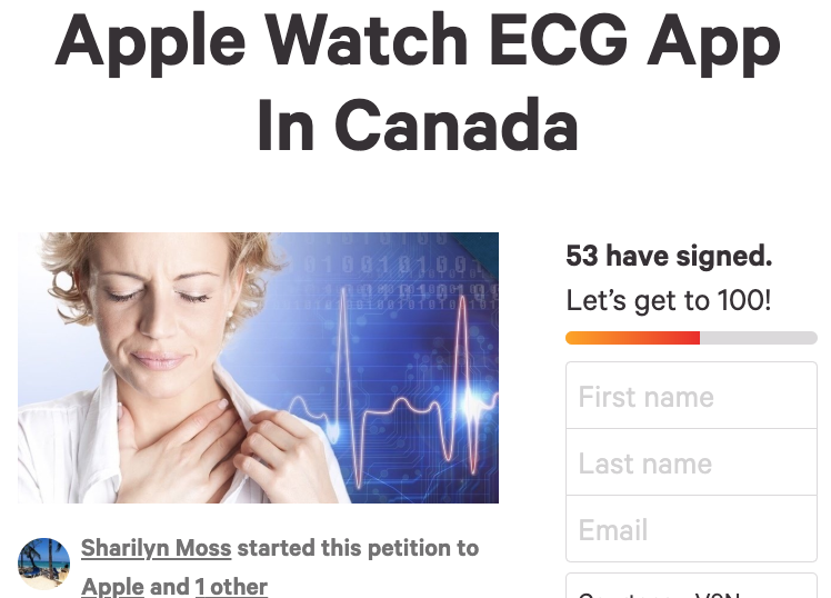 Apple watch ECG app canada