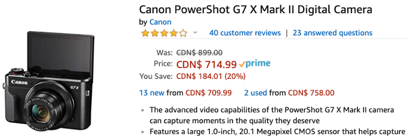 Canon powershot amazon