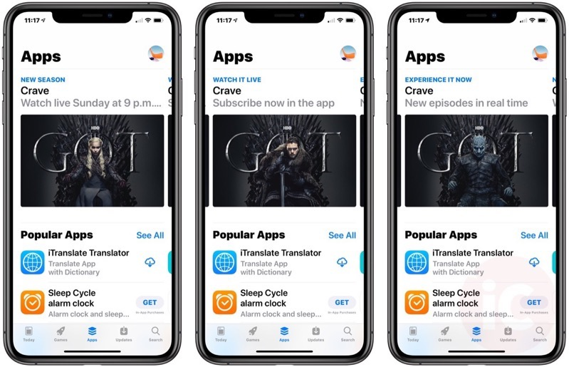 Game of thrones app store