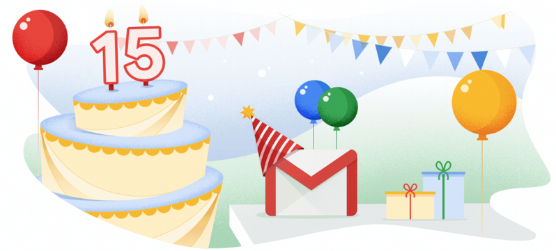 Gmail 15 years old
