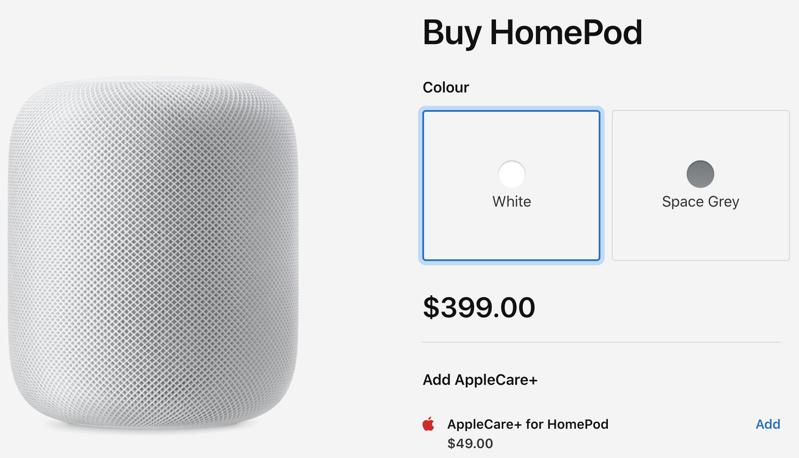 Homepod canada $399