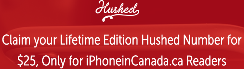 Hushed iphone in canada offer
