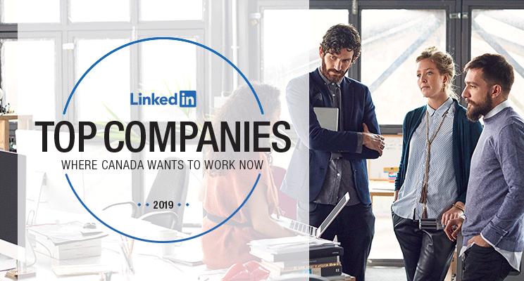Linkedin 2019 top companies canada