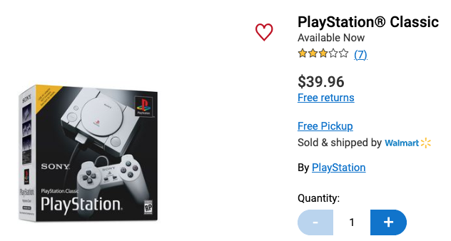 Playstation classic walmart