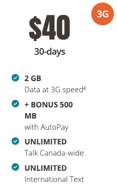 Public mobile $40