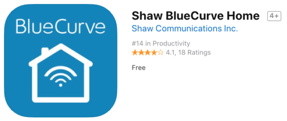 Shaw Launches BlueCurve Home iOS and Android App for Network Management
