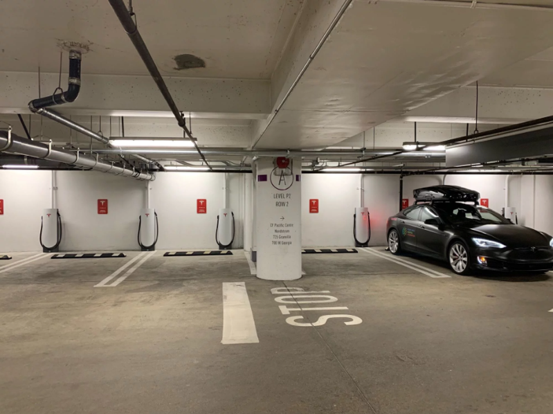 Tesla supercharger pacific centre