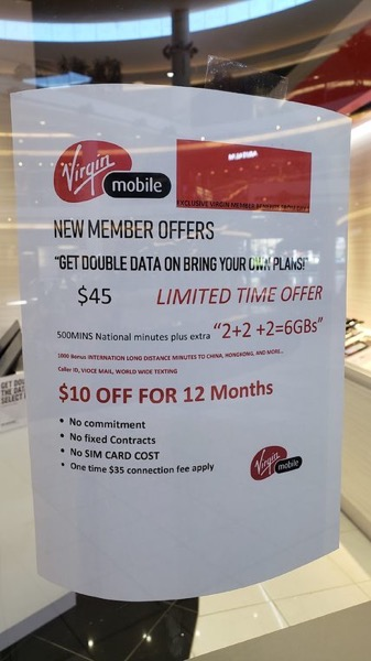 Virgin Mobile Promo: $35/6GB, $40/8GB BYOD Plans with 1,000 International Minutes