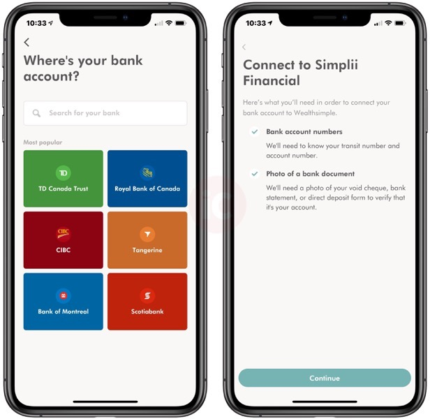 simplii financial stock