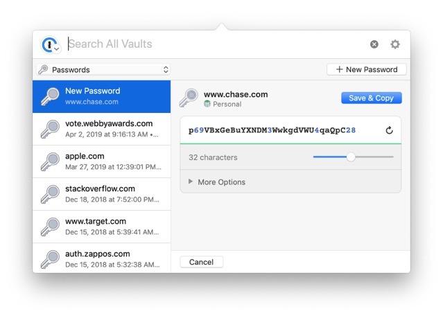 1Password Mac update