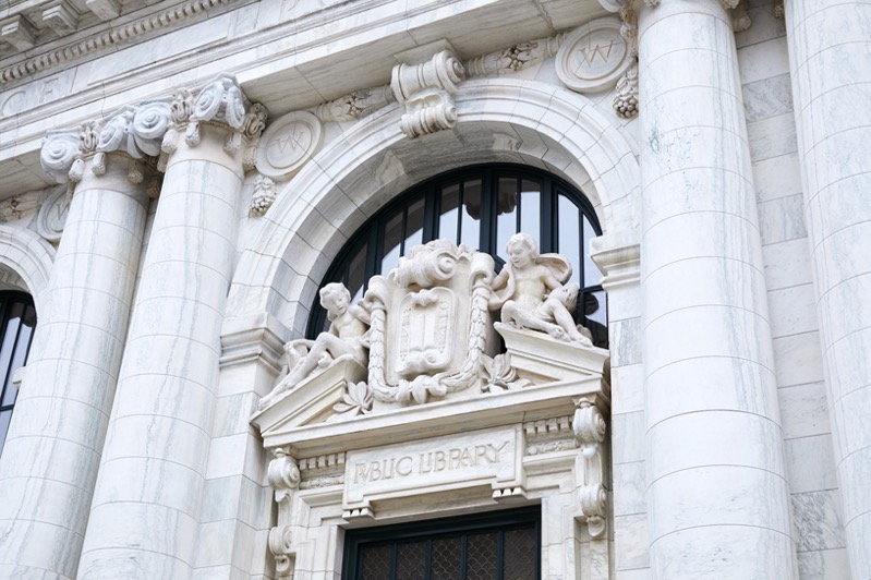 Apple Carnegie Library Vermont Marble Facade Sculptures 05092019 big jpg large