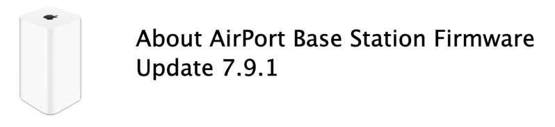 Airport base station firmware 7 9 1