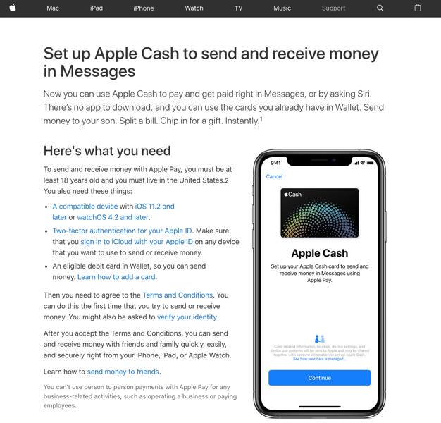 Apple cash website