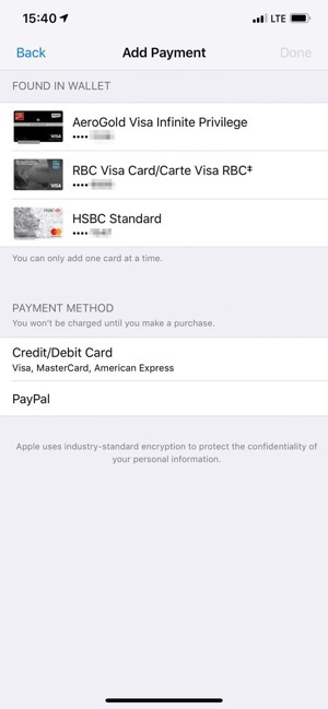 Apple pay itunes payment