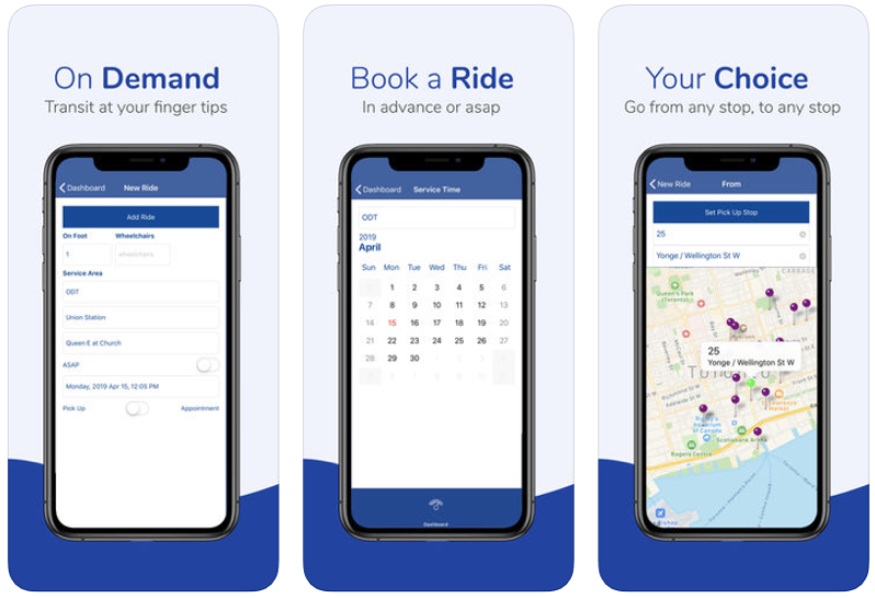 Belleville on demand transit app