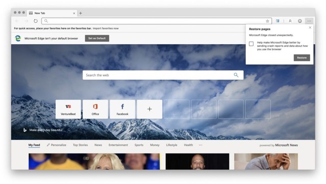 Microsoft Edge Browser for macOS is Now Available to