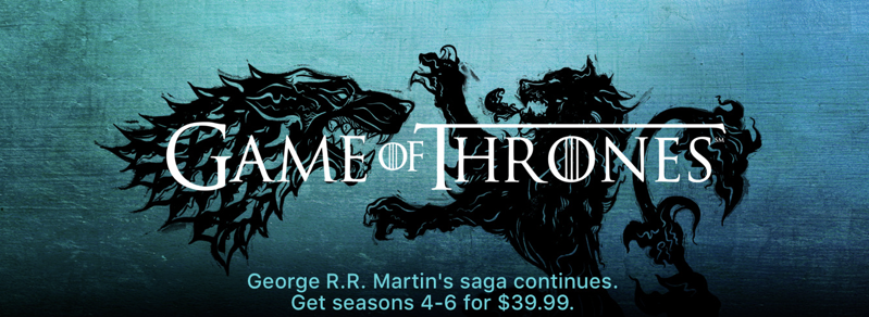 Game of thrones itunes seasons 4 6