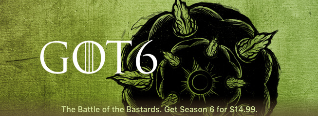 Game of thrones season six itunes