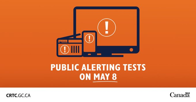 Public alerting test may 8