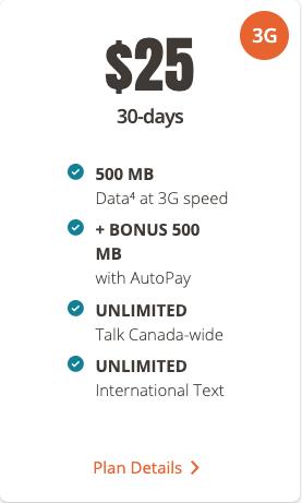 Public mobile $25 1gb