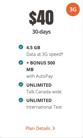 Public mobile $40 5gb