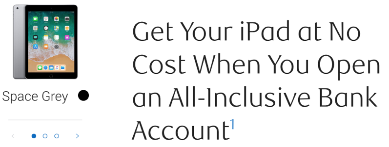 RBC Promo: Get a Free iPad when Opening an All-Inclusive Bank